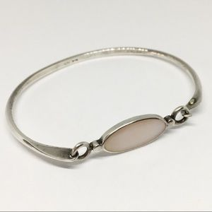 Sterling Silver 925 Dainty Boma Hinged Bracelet